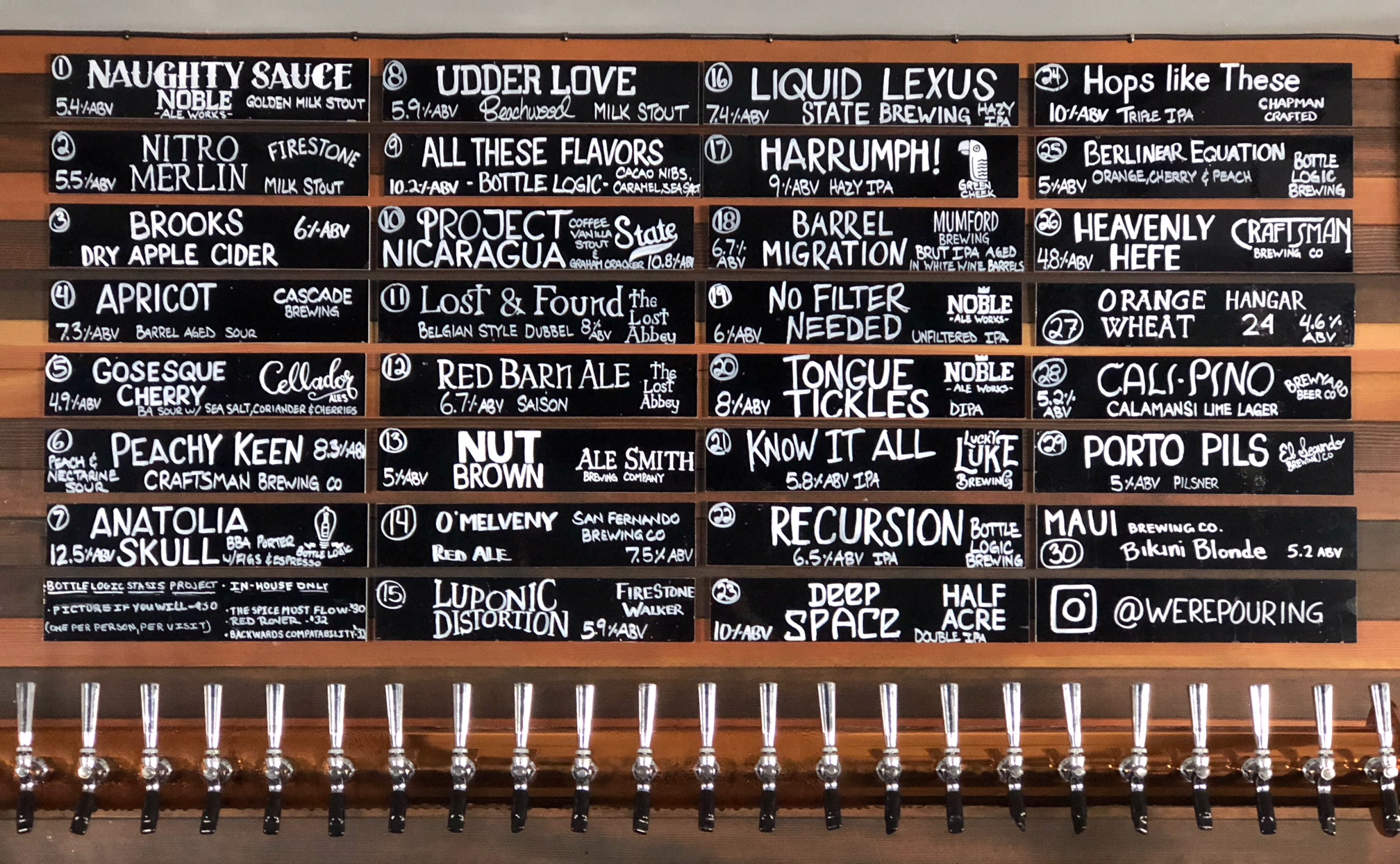 Were-Pouring-Craft-Beer-Taplist-09-14-18