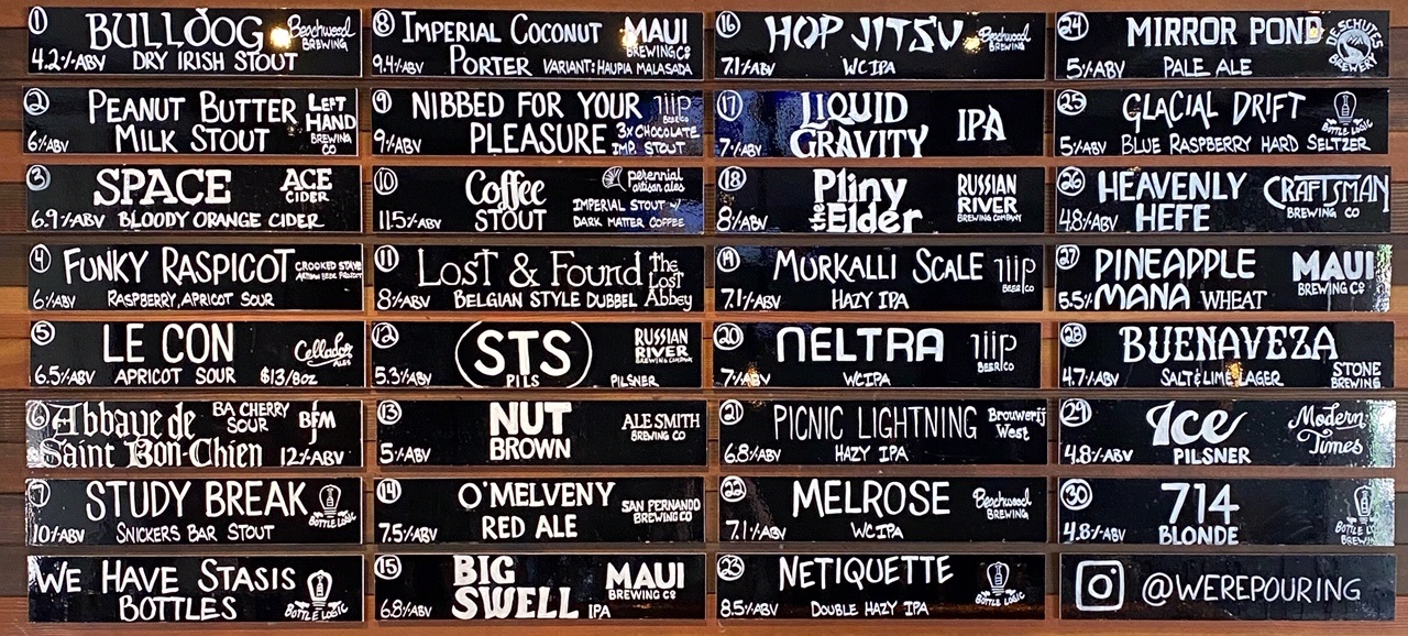 Were-Pouring-Craft-Beer-Glendale-Taplist-09-26-20